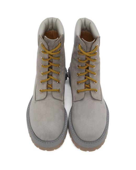 メンズ Vetements グレー ニュー トラッカー ブーツ Gray