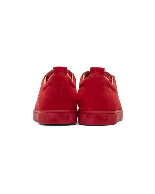 buy popular 06245 54d3c Men's Red Suede Louis Junior Spikes Sneakers