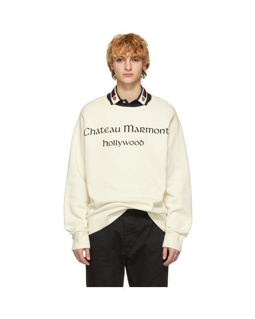 メンズ Gucci オフホワイト シャトー マーモント スウェットシャツ White