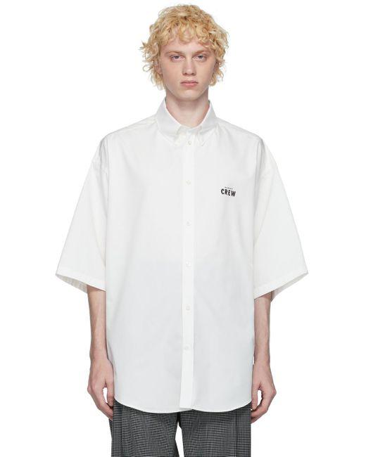 メンズ Balenciaga ホワイト Crew ショート スリーブ シャツ White