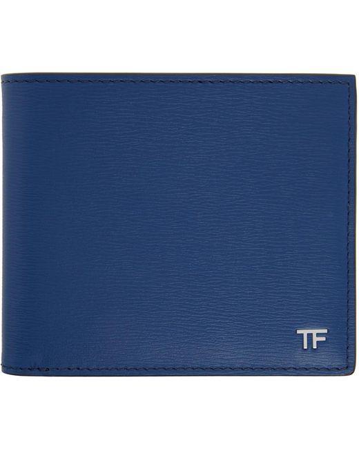 メンズ Tom Ford ブルー T-line バイフォールド ウォレット Blue