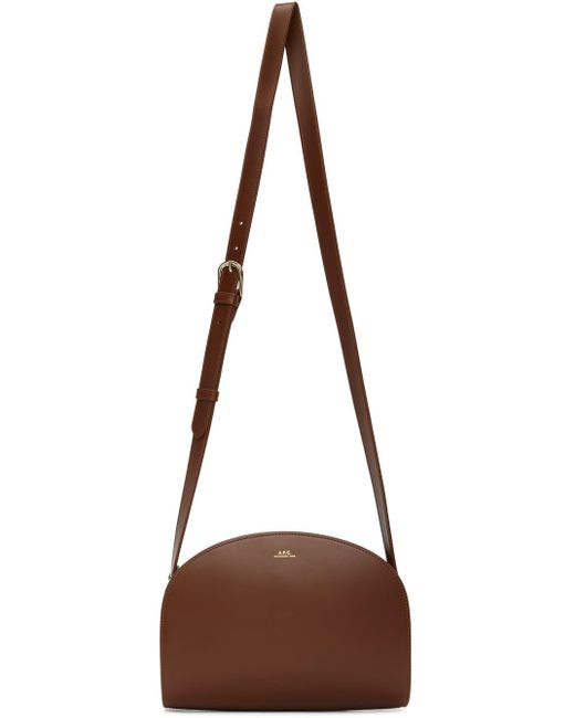 A.P.C. ブラウン Demi-lune バッグ Brown