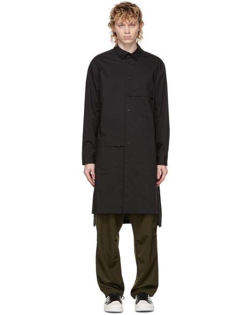メンズ Y-3 ブラック ロング シャツ Black