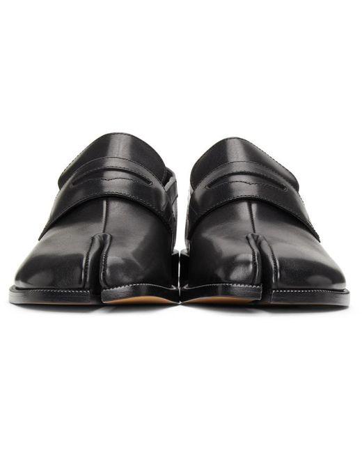 メンズ Maison Margiela ブラック Tabi 足袋 ローファー Black