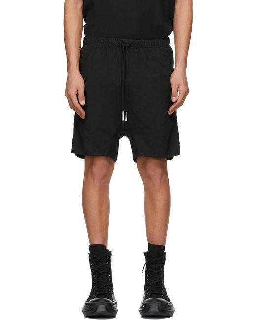 メンズ Boris Bidjan Saberi ブラック Object-dyed ショーツ Black