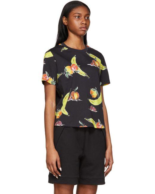 3.1 Phillip Lim ブラック Banana Print T シャツ Black