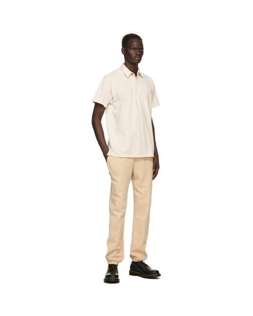 メンズ Les Tien オフホワイト ラグビー ポロシャツ White