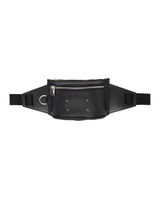 メンズ Maison Margiela ブラック スモール ベルト バッグ Black