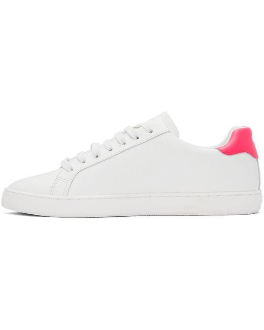 Palm Angels ホワイト & ピンク New Tennis スニーカー White