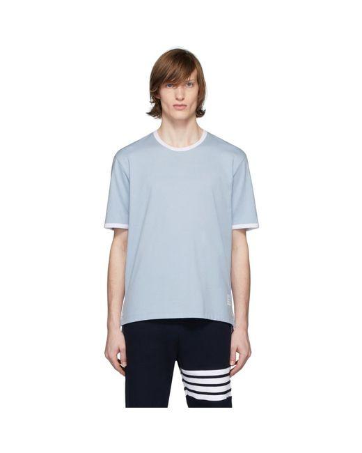 メンズ Thom Browne ブルー リンガー T シャツ Blue