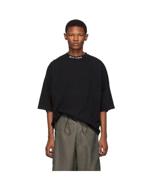 T-shirt a logo noir Palm Angels pour homme en coloris Black