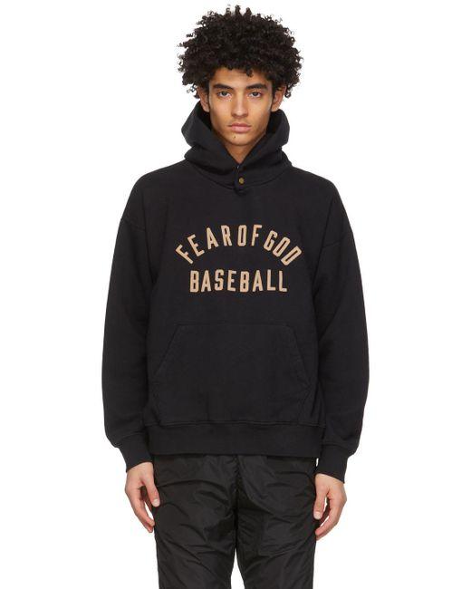 メンズ Fear Of God ブラック Baseball フーディ Black