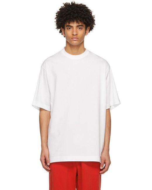 メンズ Y-3 ホワイト Classic ロゴ T シャツ White