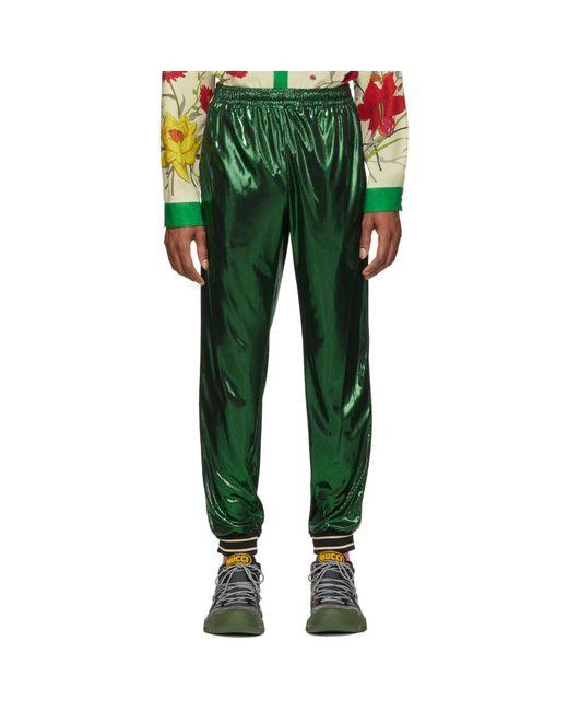 Gucci - Green グリーン ラミネート オーバーサイズ ラウンジ パンツ for Men - Lyst