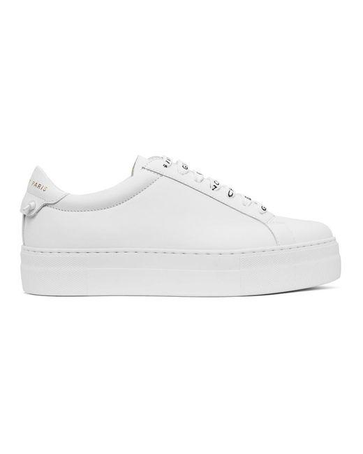 Givenchy ホワイト 4g Urban Knots プラットフォーム スニーカー White