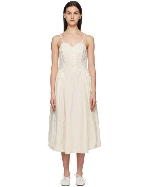 Renli Su オフホワイト Papaver ドレス White