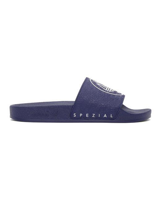 メンズ Adidas Originals ネイビー Adilette Spzl スライド Blue