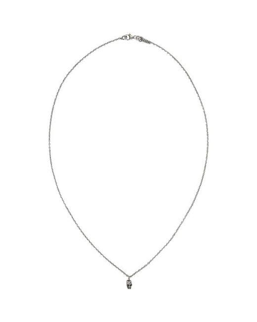 Emanuele Bicocchi   Metallic Silver Little Skull Necklace for Men   Lyst