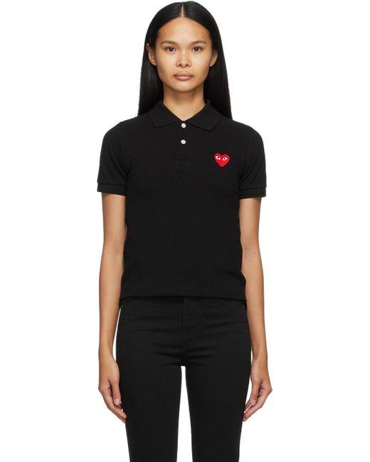 COMME DES GARÇONS PLAY ブラック Heart Patch ポロシャツ Black