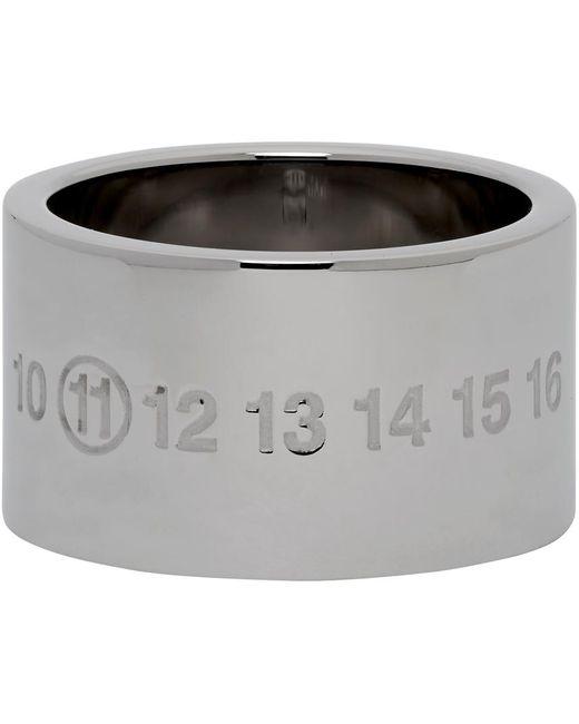 メンズ Maison Margiela シルバー Chunky Numbers リング Metallic