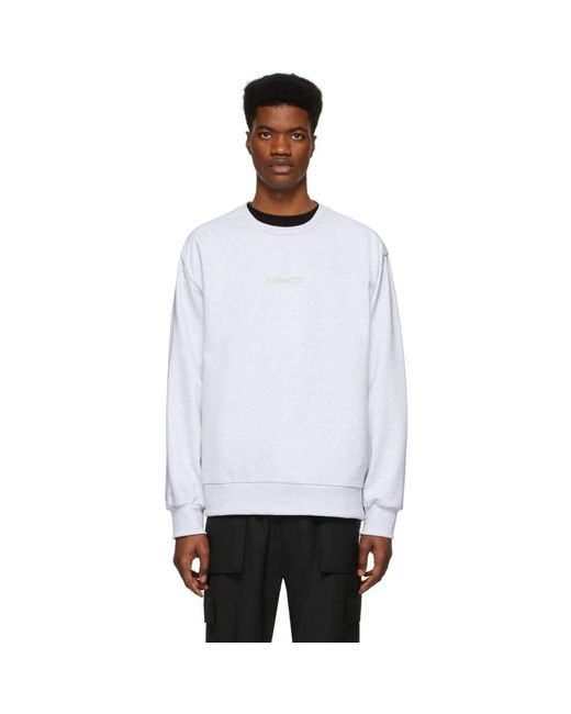 メンズ Juun.J グレー Symmetry スウェットシャツ White