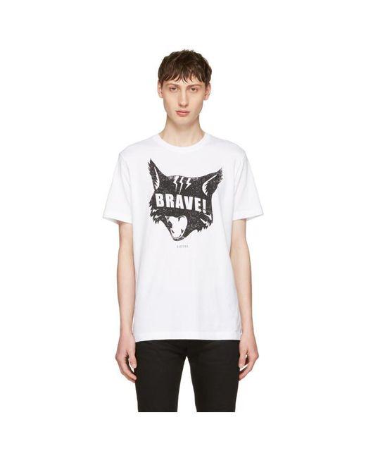 DIESEL | White T-joe-qc Cat T-shirt for Men | Lyst
