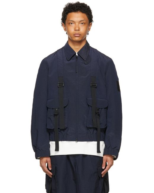 メンズ Y-3 ネイビー Ch2 Sporty ジャケット Blue