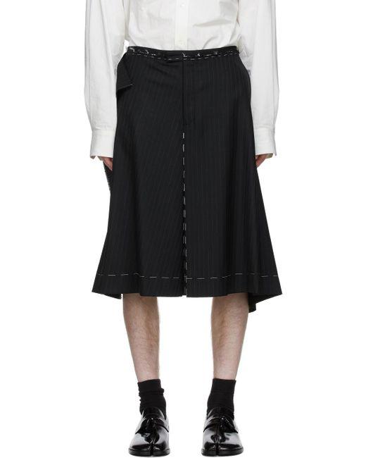 メンズ Maison Margiela ブラック モヘア Culotte ショーツ Black