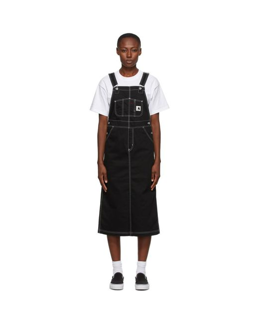 Carhartt WIP ブラック ビブ ロング スカート ドレス Black