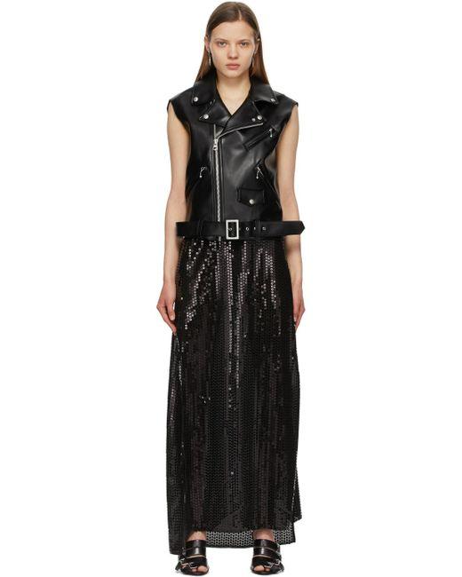 Junya Watanabe ブラック シークイン ベスト ドレス Black