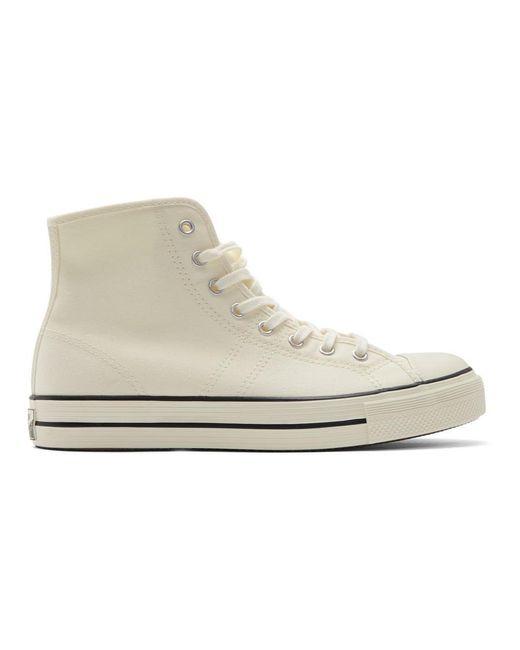 メンズ Converse オフホワイト Lucky Star ハイトップ スニーカー White