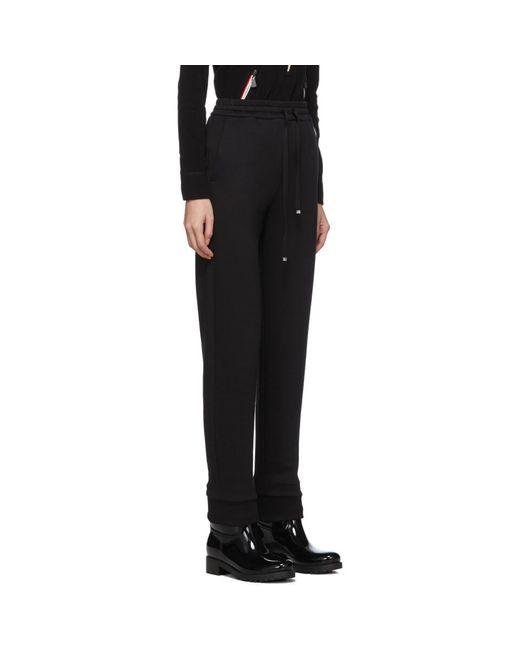 Moncler ブラック グログラン ドローストリング ラウンジ パンツ Black