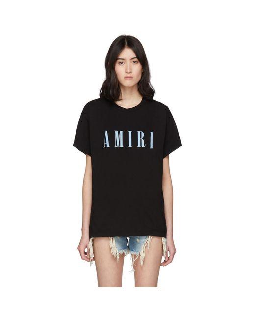 Amiri ブラック ロゴ コア T シャツ Black