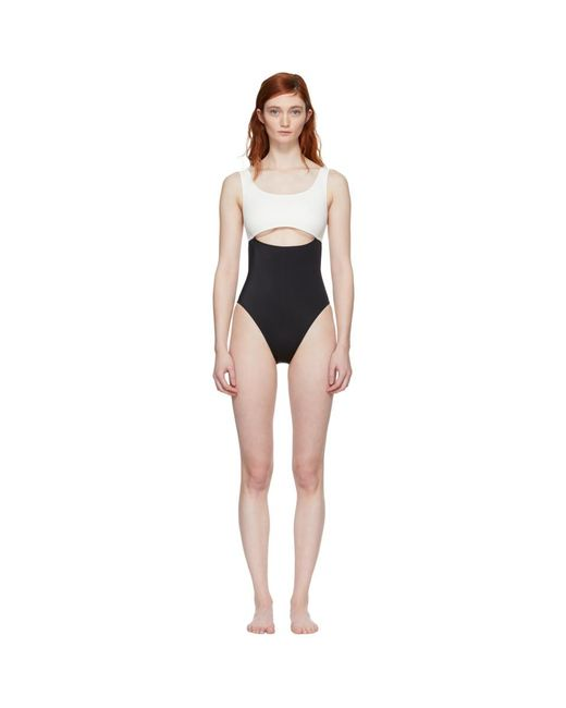 Solid & Striped - Black And White The Natasha Swimsuit - Lyst