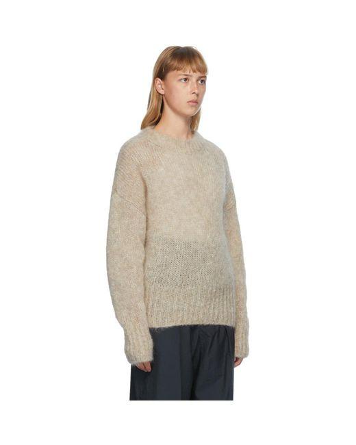 Isabel Marant ベージュ モヘア Estelle セーター Natural