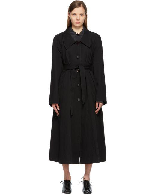 Lemaire ブラック トレンチ コート Black
