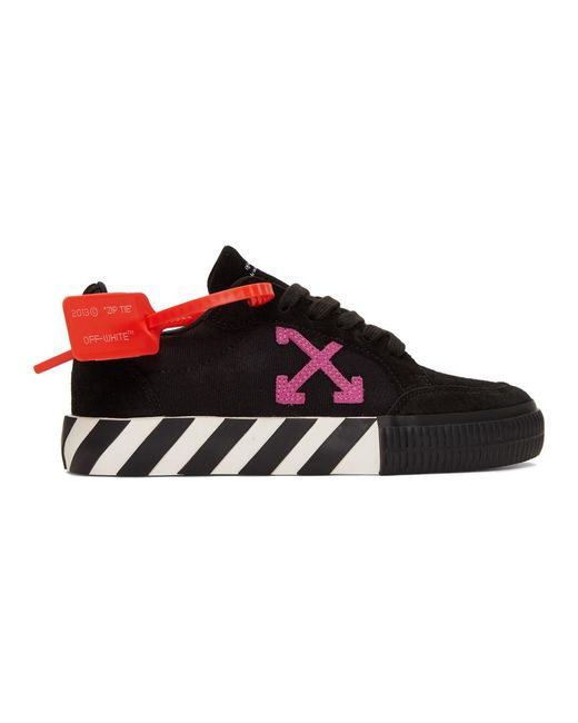 Off-White c/o Virgil Abloh Black And Pink Low Vulcanized Sneakers