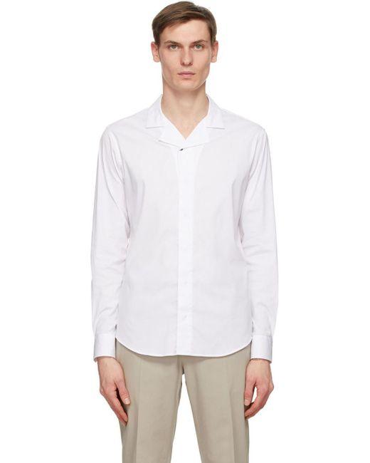 メンズ Giorgio Armani ホワイト シャツ White