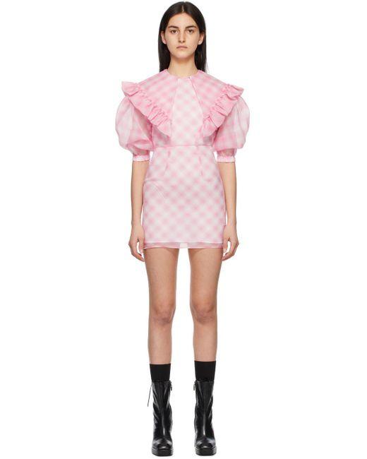 ShuShu/Tong ピンク チェック ドレス Pink