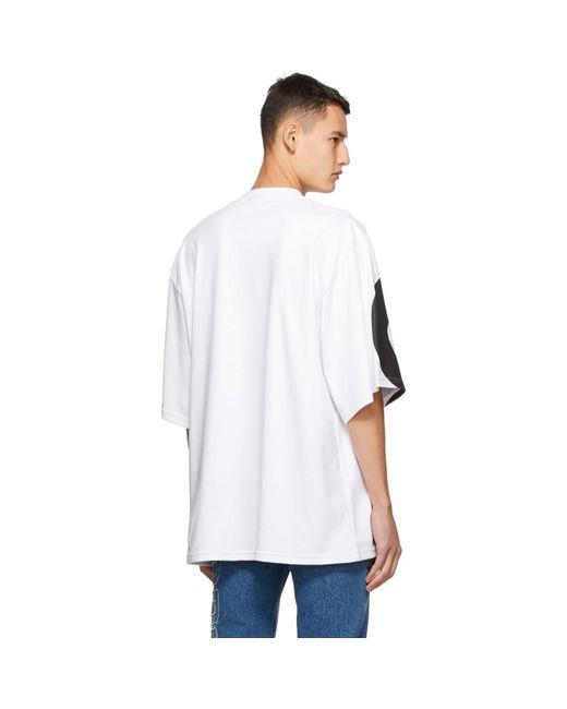 メンズ Gcds ホワイト Marco ロゴ ラウンド T シャツ White