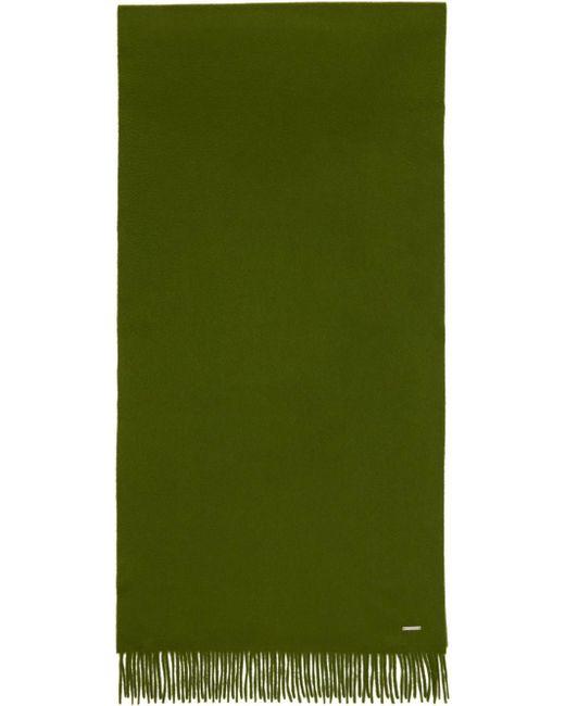メンズ Loro Piana グリーン カシミア Frisson Grande Unita マフラー Green