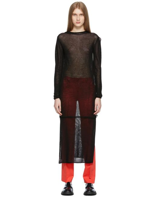 ADER ERROR ブラック Salan ニット ドレス Black