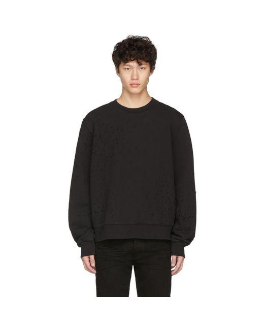 メンズ Amiri ブラック Shotgun スウェットシャツ Black