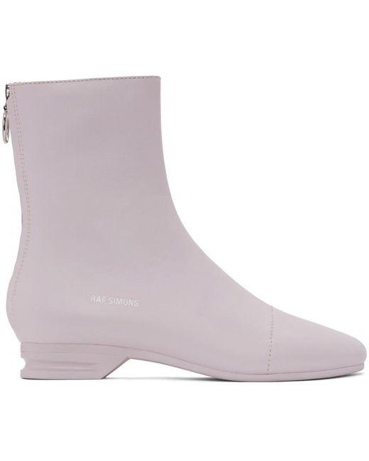 メンズ Raf Simons ピンク 2001-2 ジップアップ ブーツ Pink