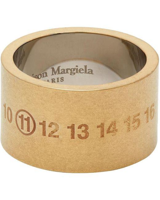 メンズ Maison Margiela ゴールド Chunky Numbers リング Metallic