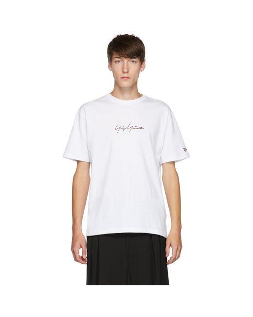 メンズ Yohji Yamamoto New Era Edition ホワイト ショート スリーブ T シャツ White