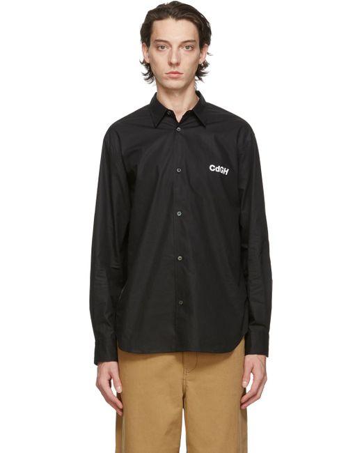 メンズ Comme des Garçons ブラック コットン ブロードクロス シャツ Black