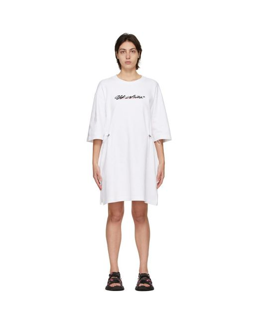Off-White c/o Virgil Abloh ホワイト ロゴ ドレス White