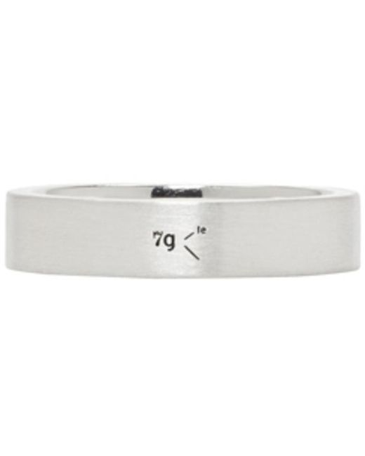 Le Gramme | Metallic Silver Brushed 'le 7 Grammes' Ring for Men | Lyst