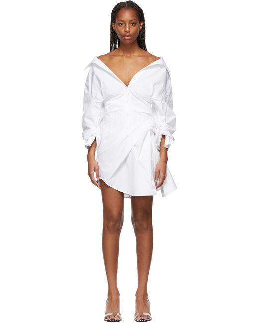Alexander Wang ホワイト Cinched Waist ドレス White